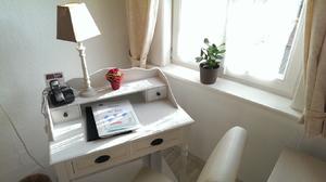 Ferienwohnung Amsel Schreibtisch